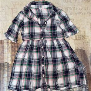 Girls plaid gap dress